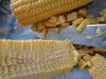 Collecting the corn kernels