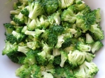 Preparing the broccoli - Blanched