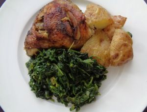 Spinach, Chicken and potato