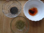 Paprika, poppy and oregano